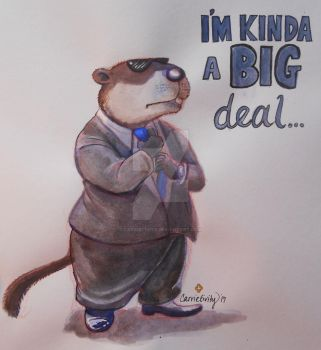 Big Deal Groundhog by Carrietivity
