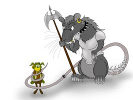 Rufus and Viltheed rat by Villainess-Vi