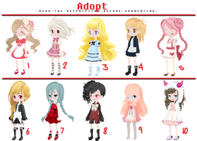FREE Adoptables - Set 7 [CLOSED] by ReddAdopts