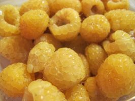 Golden Raspberries by Windthin