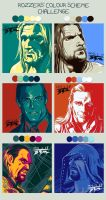 Colour scheme challenge: WWE superstars by DTM2009