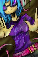 Vinyl Scratch - Print 0005 by BuckingAwesomeArt