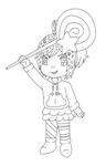 Vanellope Lineart by MikariStar