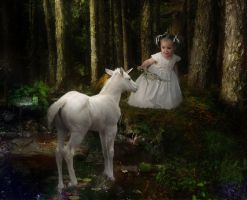 The girl and the unicorn by RavensLane
