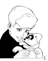 Jonny Quest and Bandit by zombiegoon
