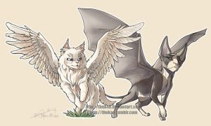 Cats with Wings by TheK40