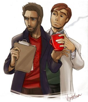 House and Wilson .. and coffee by vejiicakes