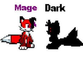 Mage and Dark by CozandTails