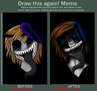 Before and After: Eyeless Jack by JrMonthra