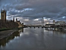 Over Thames with Eyes on Ben by locked-inside