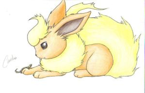 PKMN: Eeveelutions - Flareon by Carro-chan