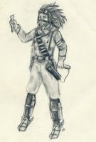 Steampunk Sketches- Messenger by Forfaxia