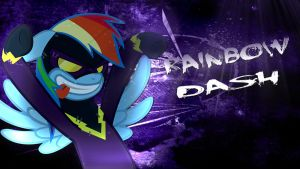 Rainbow Dash Shadowbolt Wallpaper by TygerxL