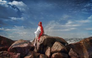Ponyo on the Cliff by the Sea by Hary-kyn