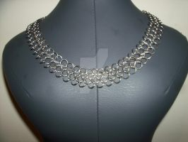 new wider chainmail necklace design 4in1 pattern by davidbillups