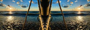 HDR Nautical Sunset Reflections by braxtonds