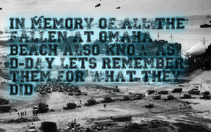 In Memory Of D-day by tobber103