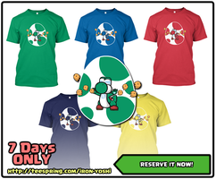 4 HOURS LEFT - Iron Yoshi Shirt! by PeekingBoo