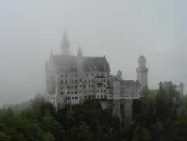 the castle in fog by angva