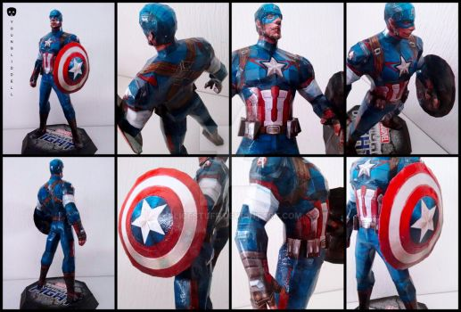 Marvel - Captain America Papercraft by alicestuff