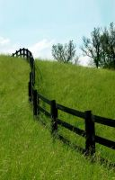 Fence on the Hill: Summer by mostlymade