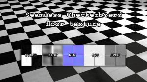 Seamless Checker Floor Texture by paintevil