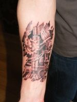 Biomech Forearm by Green-Jet