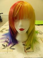 Rainbow Dash Wig. WIP. by xZombieDork