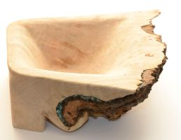 Burl Bowl Wip_Turquoise Inlay 2 by lamorth-the-seeker