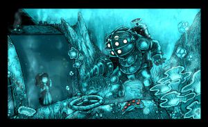 fanart bioshock color by crispawn