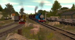 Skarloey Railway Coal Yard Junction by StepneyComeBack