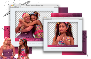 Pack Png 864 // Ariana Grande and Jimmy Fallon by ExoticPngs
