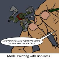 Model Painting with Bob Ross by JewelledDragon13