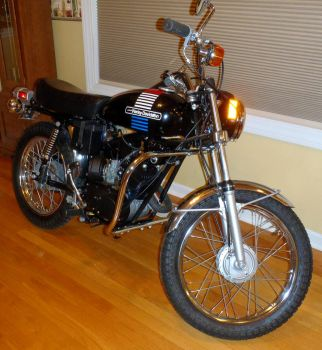 1973 Z-90 Harley-Davidson right front by Caveman1a