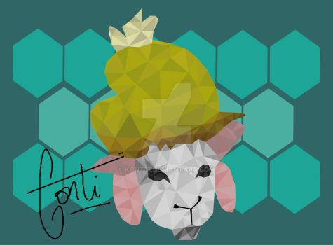 Low Poly - Sheep with Cap by kontti