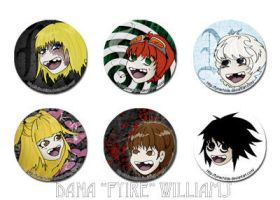 Death Note Buttons by FyireChilde