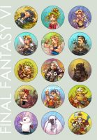 FF6 Rollcall by neomonki