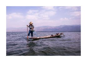 fisherman on Inle Lake by lightdrafter