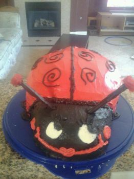 Lady Bug Baby Shower Cake by DancingRecklessly