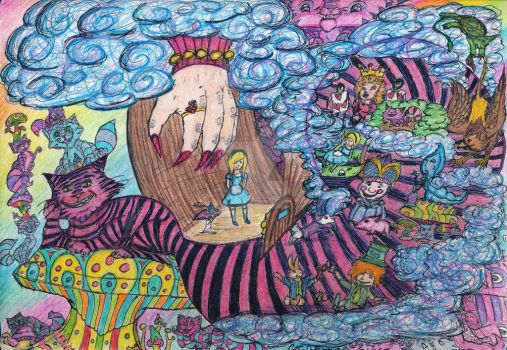 The Tail of Alice in Wonderland by CheshireDivine