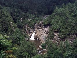 Linville Falls by auctoris