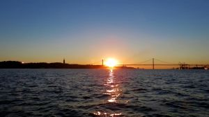 Ponte 25 Abril Sunset by biffexploder