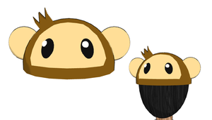MMD-Monkey hat DL by Shioku-990