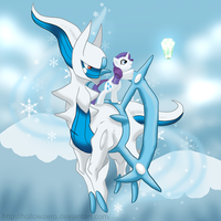 Day 19 - Rarity and the Icicle Plate by hollowzero