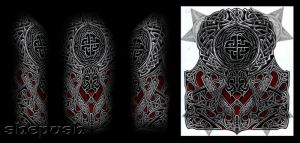 Celtic style half sleeve by shepush