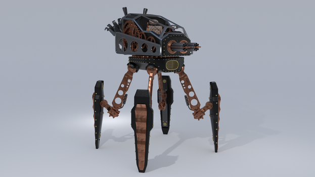 Steampunk Spider by Canapy-3D