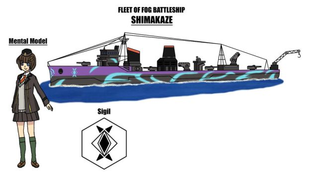 Fleet of Fog Battleship: Shimakaze - Ref Sheet by Hexidextrous