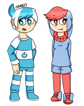 Human Hologroan And Polly by MixelsAngryBirds17