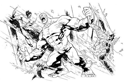 Hulk Battle by therealARTURO