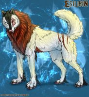 Esiubin wolf commission by TheTyro